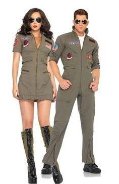Top Gun Couples Costumes now at Teezercostumes.com