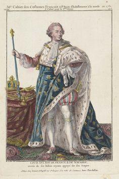 Louis XVI. Roi de France et de Navarre, revêtû de ses hâbits royaux appuyé sur son Sceptre.