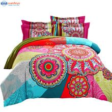 bohemia duvet cover set winter comforter cover bedsheet Pillowcase 4pc bedding…