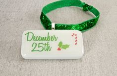 Christmas Candy Cane December 25th Domino Ornament by WiReDBoutique on Etsy $6