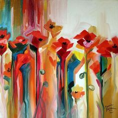 wall candy.      Abstract Poppies, Marcia Baldwin