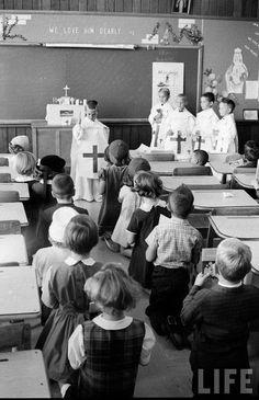 Children playing the tridentine mass