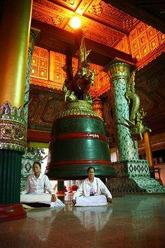 Bell inside Shwedagon Pagoda, Myanmar