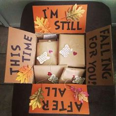 After all this time I'm still falling for you Cute fall care package #simple_crafts_for_boyfriend #boyfriendgifts