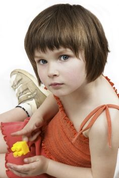 Looking for a shorter cut for the little girl so her hair doesn't knot so much. This is a maybe.