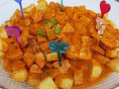 Salsa Brava and potatoes Mexican Food Recipes, Sweet Recipes, Ethnic Recipes, Barbacoa, Cooking Recipes, Healthy Recipes, Salsa Recipe, Recipes From Heaven, Mediterranean Recipes