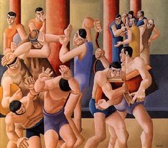 """William Roberts (1895-1980)  """"Christ Driving the Money Changers from the Temple"""", 1925"""
