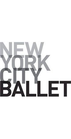 America's preeminent dance company. Identity by Paula Scher.