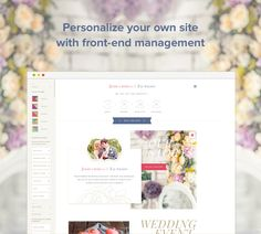 #WeddingEngine - personalize your own site with front-end management. Try Demo Now! http://enginethemes.com/demo/weddingengine/