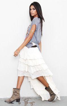 Jen's Pirate Booty  Tango Uneven Skirt