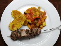 Lamb skewer with ratatouille