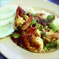 ~Stir-fried Spicy Stink Beans with Prawns Phuket Style Recipe~