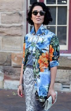 Yasmin Sewell, Fashion Week, Street Style, LFW, Hawaiian Shirt, Luxury Fashion