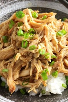 """Slow Cooker Teriyaki Pulled Chicken 