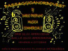 FESTA AL PASSAGGIO A NORDOVEST – DJ DARIO PREFUMO – QUARTU S.ELENA – VENERDI 4 OTTOBRE 2013