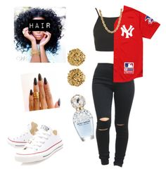SET#45.4th of July  by asvpkilla on Polyvore featuring polyvore, fashion, style, Topshop, Supreme, Converse, Versus, Baby Phat and Marc Jacobs