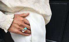 AUTUMN LOOKS 2015 by Ole Lynggaard Copenhagen Designer's Choice. Lotus rings. A vintage look. Designed by Charlotte Lynggaard