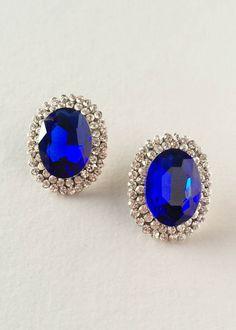 Sapphire Crystal Stud Earrings – Pree Brulee