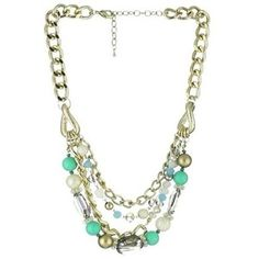 "Leslie Danzis ""Morgan"" Turquoise Multi Strand Necklace"