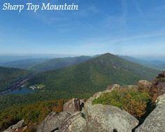 Peaks of Otter- sharp top mountain