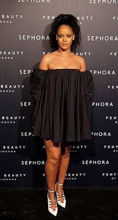 September 21: Rihanna at the Fenty Beauty Launch Party at Sephora in Paris