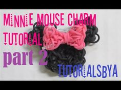 PART 2 MINNIE MOUSE Rainbow Loom Charm Tutorial - ORIGINAL DESIGN. You Tube video by TutorialsByA.