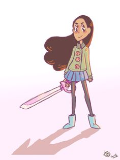 """krithidraws: """"i could have been productive today, but i made a choice, so here's another Connie """""""