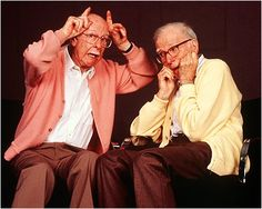 Ollie Johnston and Frank Thomas, two master animators, part of Walt's Nine Old Men and authors of The Illusion of Life