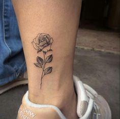 Small rose tattoo design on ankle – tattoo