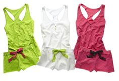 flirtitude lace tanks and pajama shorts