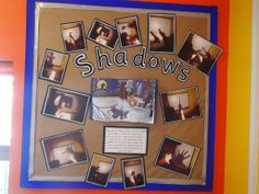 We did an activity on shadows linked to a favourite story. We then created this display celebrating the children's work and new found knowledge. EYFS We did an activity on shadows linked to a favourite story. We then created this display ce Gruffalo Eyfs, Gruffalo Activities, Eyfs Activities, The Gruffalo, Science Activities, Activities For Kids, Educational Activities, School Displays, Classroom Displays