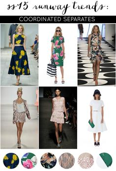 SS15 Runway to Real Way | Fashion Trends: Coordinated Separates