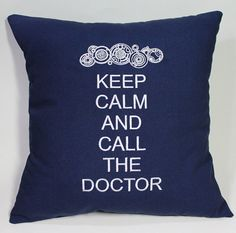 SALE Keep Calm and Call the Doctor - Dr Who inspired Embroidered Pillow Case Cover from tadaboutique on Etsy. Saved to Dr Who. Tardis Door, Embroidered Pillowcases, Don't Blink, Dr Who, Cool Names, Keep Calm, Nerdy, Geek Stuff, Pillows