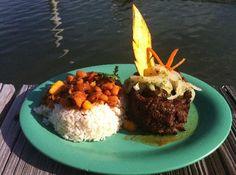 Come where the locals go.  Nothing fancy just great food!  Marina Puerto Chico, Fajardo, Puerto Rico