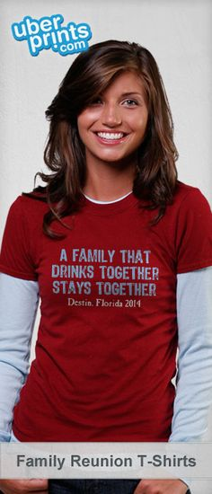 Create custom family reunion shirts online at UberPrints.com. Design them yourself or get started from our family reunion templates. #familyreunion #uberprints