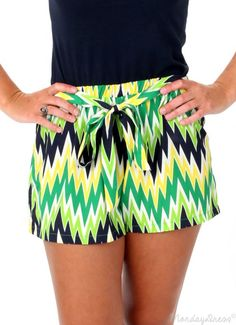 One Less Lonely Girl Chevron Shorts
