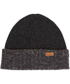 Barbour Cassop Fleck Pom Hat - Charcoal
