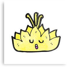 cartoon lotus flower character