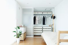 An accumulation of architecture, design, photography and minimalism collected by Cory Gibbons. Closet Bedroom, Dream Bedroom, Home Room Design, House Design, Condo Design, Condominium Interior, Muji Home, Small Apartment Interior, Japanese Interior
