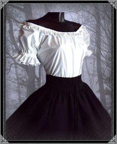 Steampunk - Gothic Bluse Liliana Gothic Bluse Gothic Kleidung Undergro