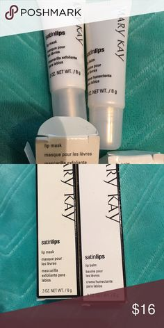 Mary Kay Satin Lips Lip balm and lip scrub, work better as aa set and usually sold as a set if you need individual processes I can separate.  One of my best sellers!!!  Deforest a winner! Mary Kay Makeup Lip Balm & Gloss