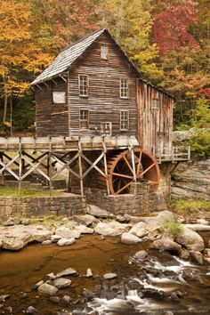 Glade Creek Grist Mill, Babcock State Park, Clifftop, West Virginia, USA