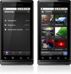 Aplicativo Zedge para Android