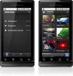 Aplicativo Zedge para Android
