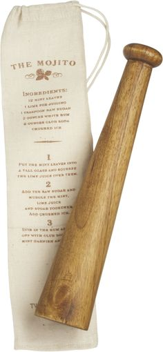 Wooden Muddler With Pouch