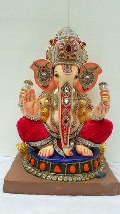 Om Ganesh, Shri Ganesh Images, Ganesh Pooja, Clay Ganesha, Ganesh Lord, Ganesh Idol, Ganesha Pictures, Shree Ganesh, Ganesha Art