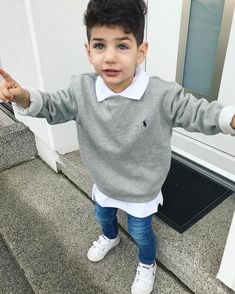 Image may contain: 1 person - cute kids - Newborn Boy Clothes, Baby Outfits Newborn, Toddler Outfits, Baby Boy Outfits, Little Boy Fashion, Kids Fashion Boy, Toddler Fashion, Cute Baby Boy, Cute Kids