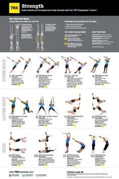 TRX Strength Poster | TRX Exercise Poster | Wicked Fitness