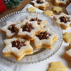 Baking Recipes, Cookie Recipes, Dessert Recipes, Mini Desserts, Holiday Desserts, Kolaci I Torte, Biscotti Cookies, Nutella Recipes, Italian Cookies