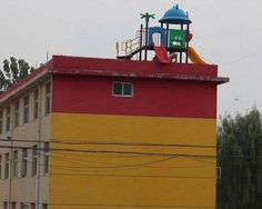 You Had One Job ~ Playground on building roof